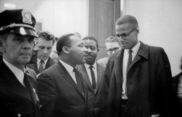 Martin Luther King Jnr (1929-1968) and Malcolm X (Malcolm Little - 1925-1965) waiting for a press conference, 26 March 1964. Photographer: Marion S.Trikoskor.