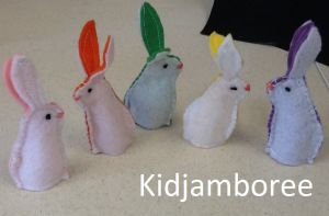 Bunnies flannel finger puppets
